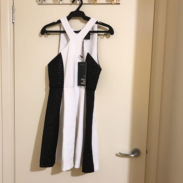 David Jones Black And White Dress