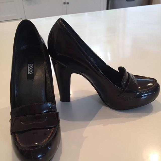 Deep Maroon Coloured Heels Size UK 3