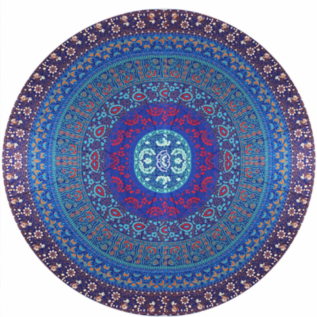 Dream Time Floral Print Mandala Beach Mat