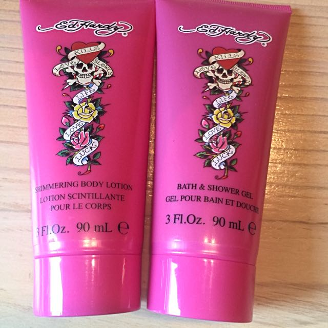 Ed Hardy Body Lotion And Shower Gel