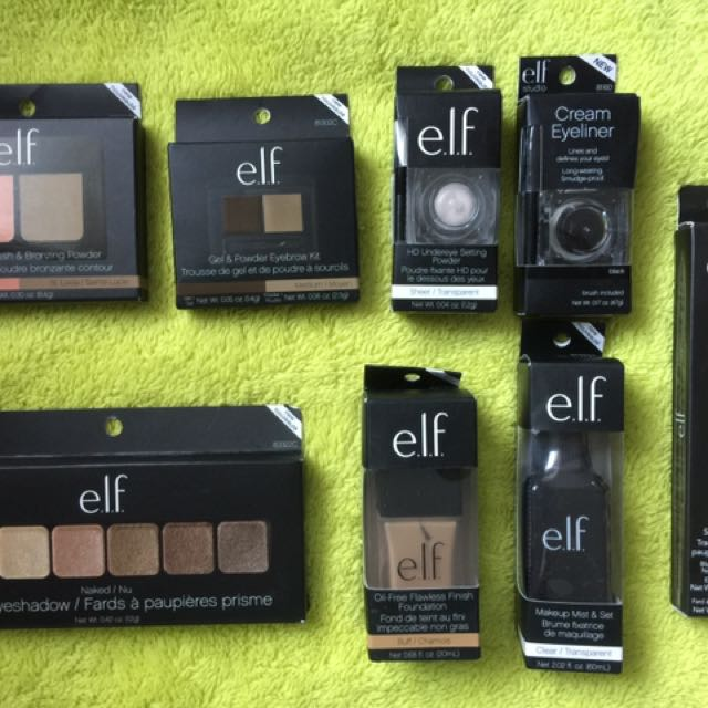 Elf Makeup Blush Bronzer, Eyebrow Kit And Undereye Setting