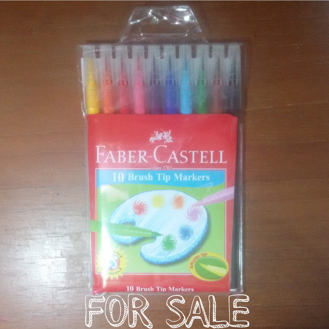 Faber-Castell 10 Brush Tip Markers