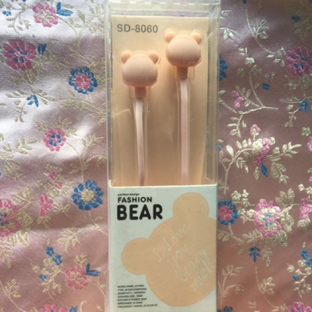 Fashion Bear Earphone/Earbud/Headset