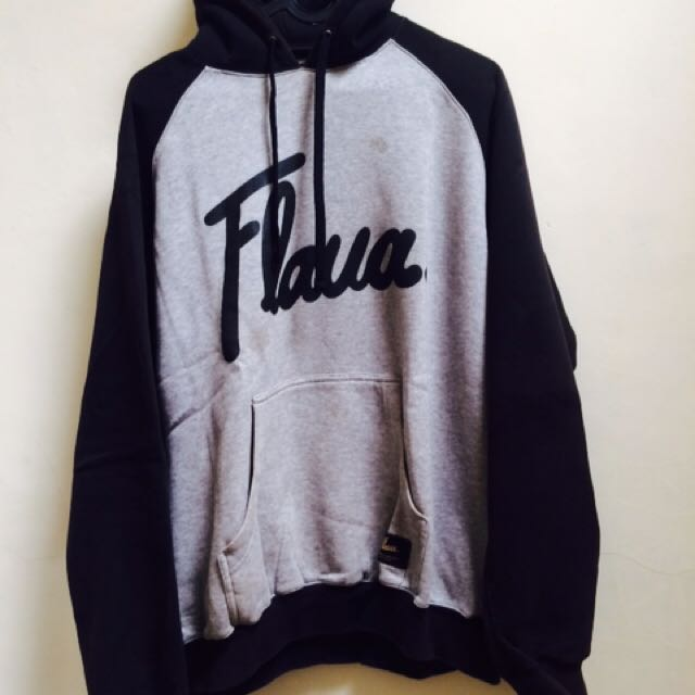 Flava. Two Tone Hoodie Black Grey