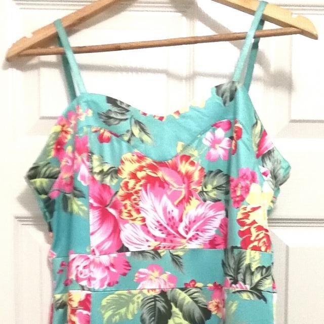 Floral Dress Large Size Aus 10