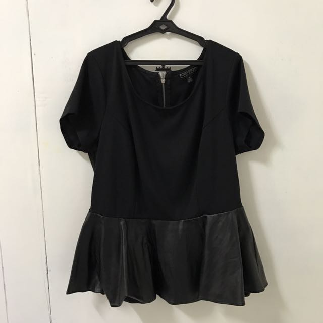 FOREVER21 PLUS SIZE Peplum Top