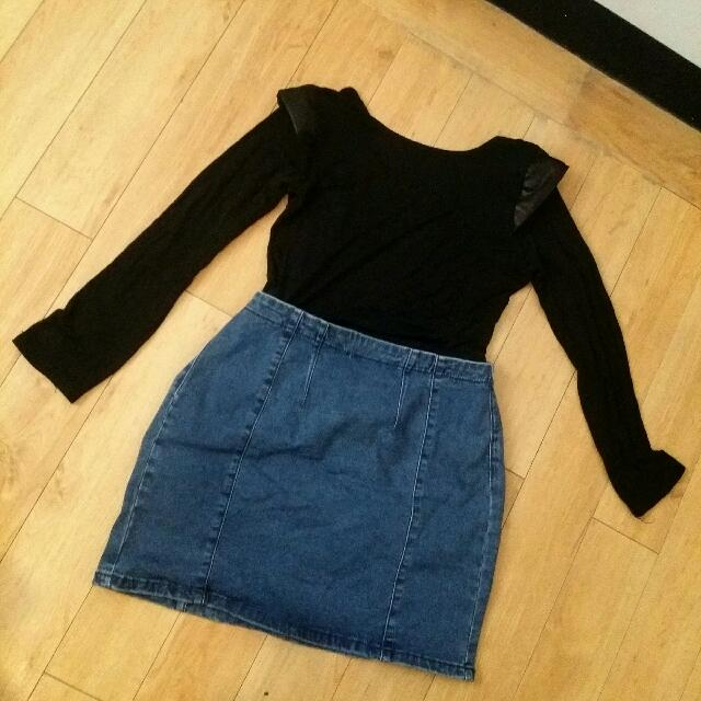 Forever 21 HW Denim Skirt