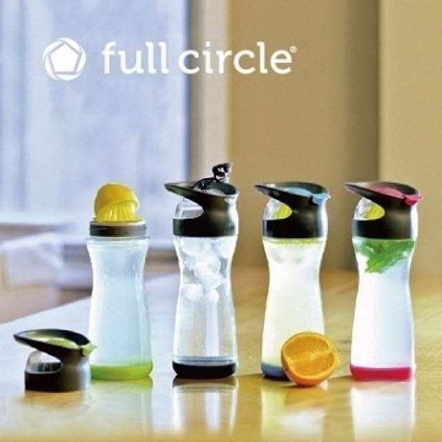 [全新]Full Circle 纖檸隨手玻璃瓶 藍色