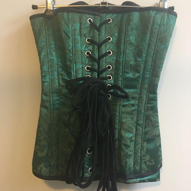 Gallery Serpentine Green Brocade Corset - Size 6