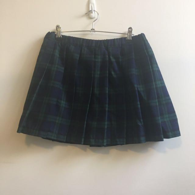 Genuine Harajuku School Girl Mini Pleated Skirt - Size 10