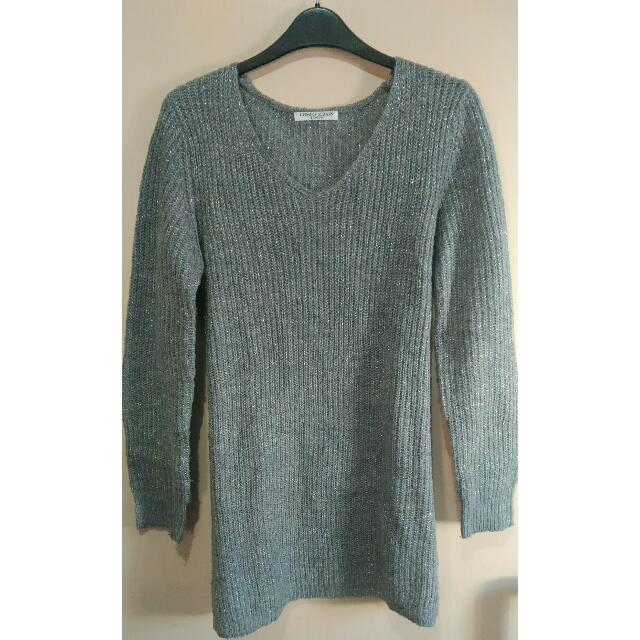 Gray Oversized Knitsweater