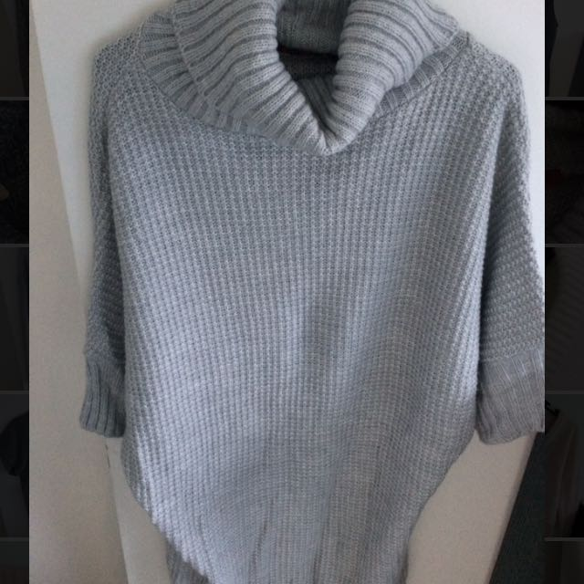 Grey High Collar