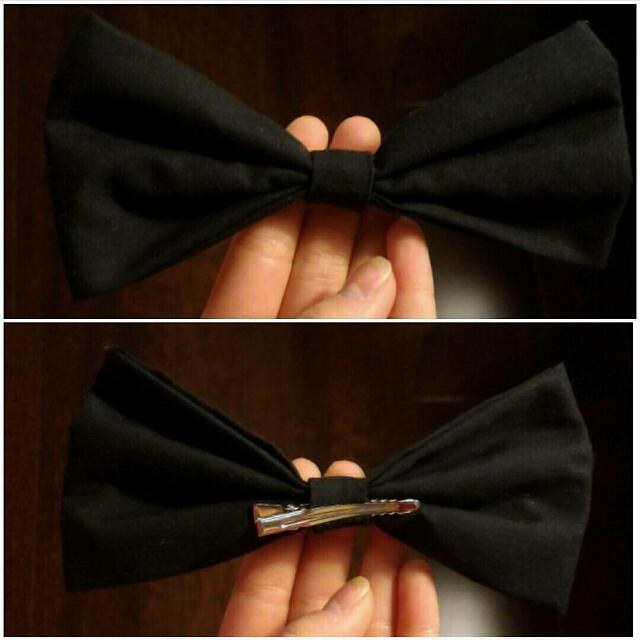 Handmade Black Bow!