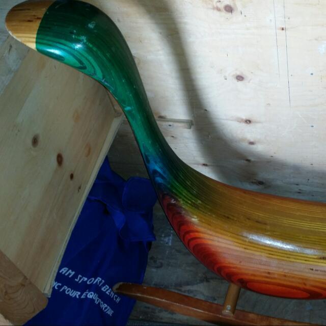 Handmade wooden Goose Rocker