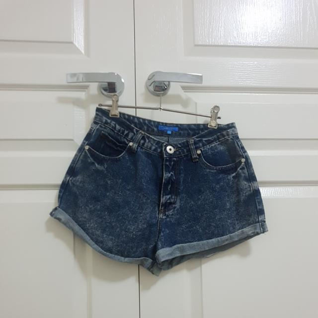 High Waisted Acid Washed DENIM Shorts