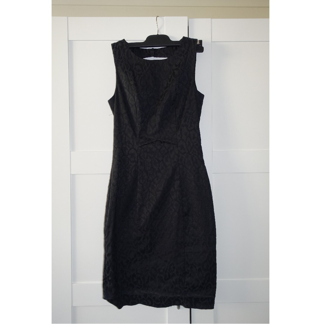 H&M Black Leopard Dress