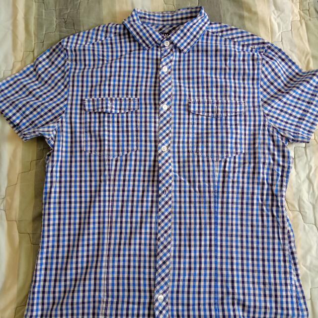 H&M Blue Short Sleeve Shirt
