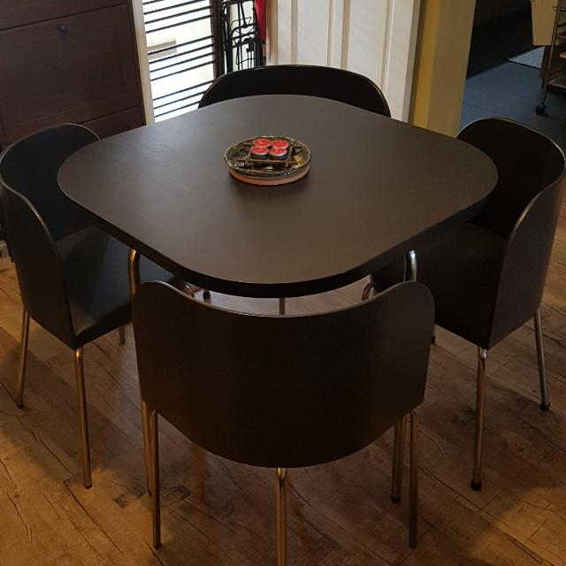 Ikea Compact Dining Table 4 Chairs Furniture Tables Chairs On Carousell