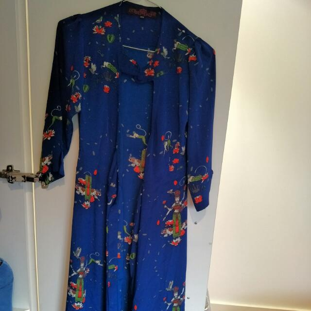 Imported London wrap-around dress