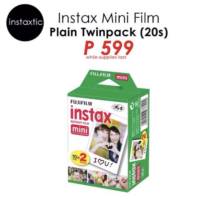 Instax Mini Plain Twin Pack Film - 20 Sheets
