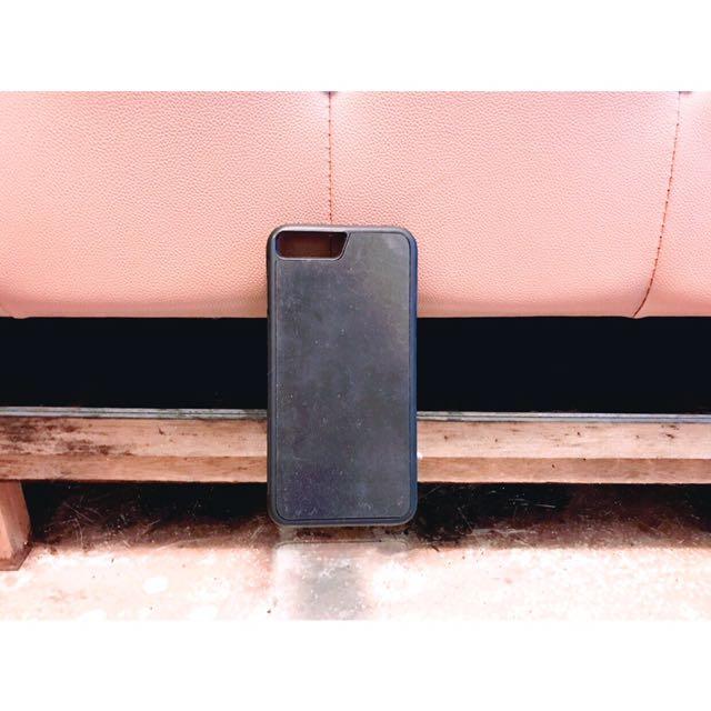 Iphone7plus黑色反重力反地心引力吸附型手機殼