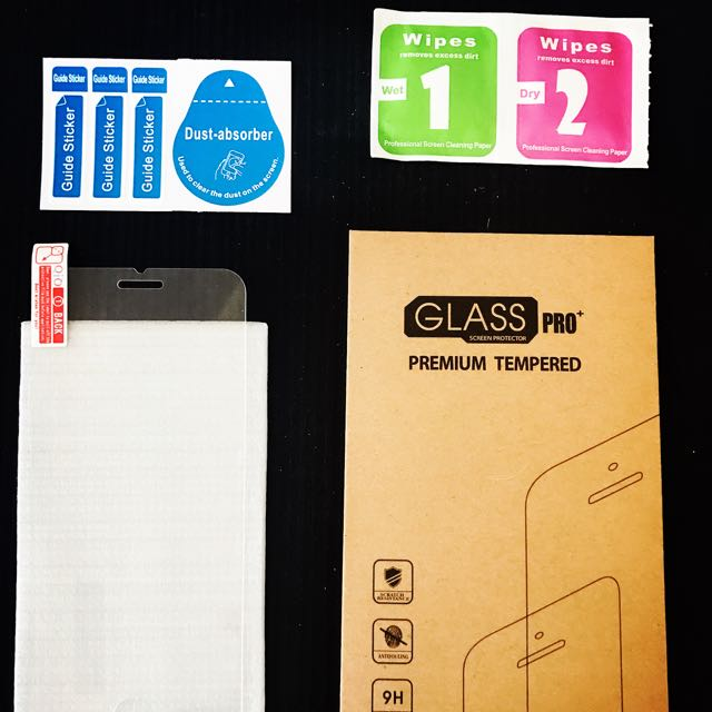 iPhone 6 Tempered Glass Screen Protector Kit