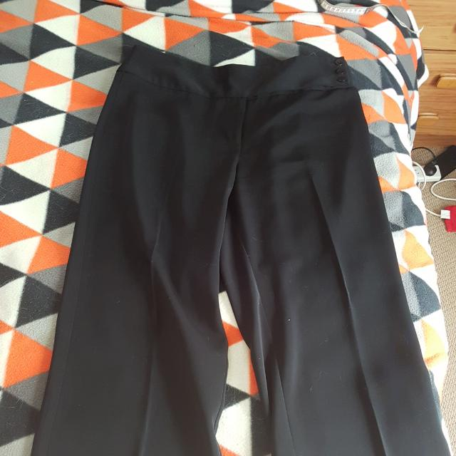 Jacqui-E Black Dress Pants, Size 14