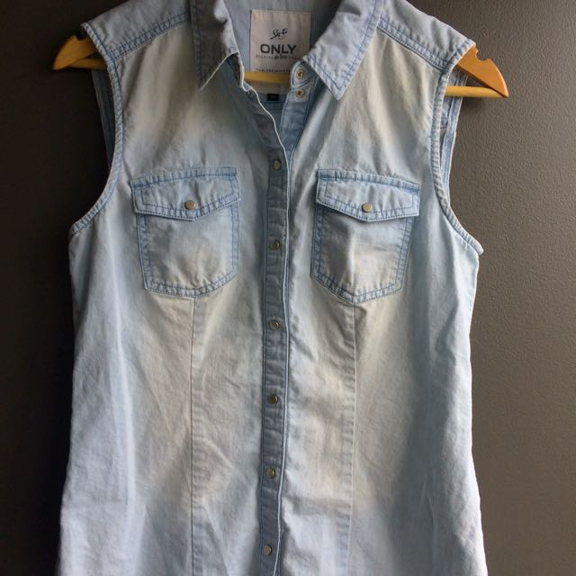 Jeans Sleeveless Blouse