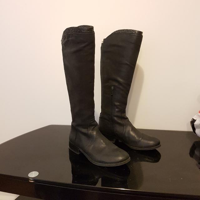 Jessica Simpson Leather Boots 7.5