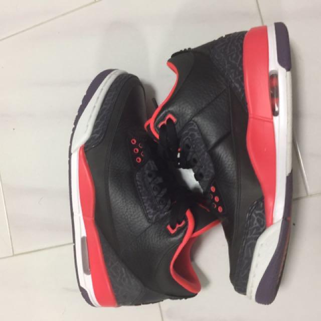 Jordan 3 Bright Crimson