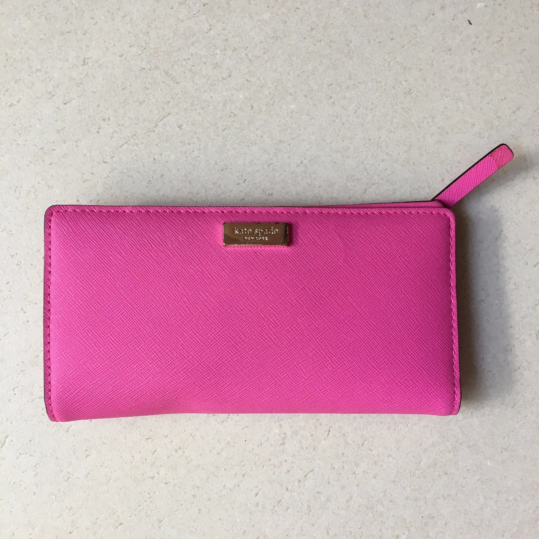 Kate Spade Bright Pink Purse/Wallet used but in great condition