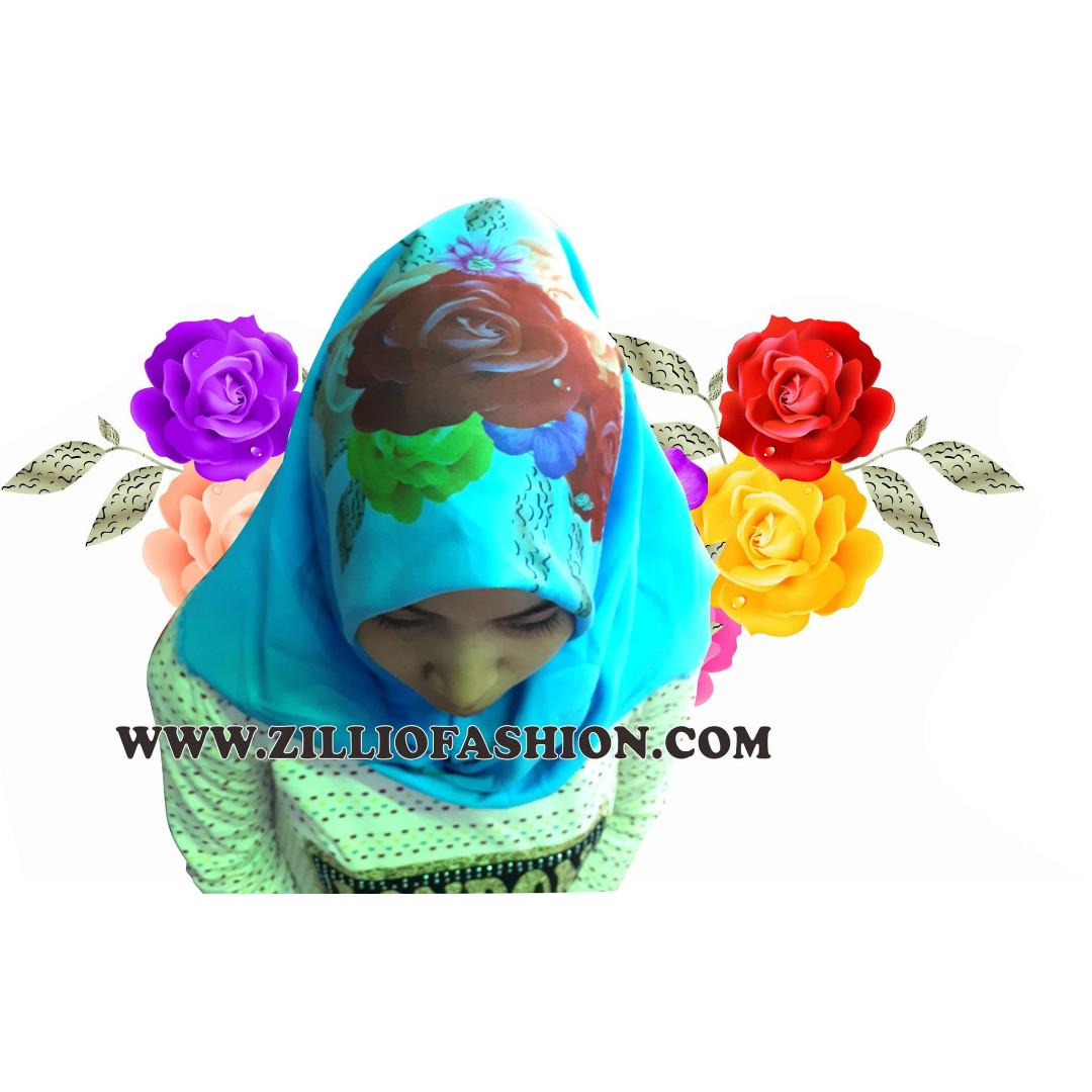 Kerudung Rawis Segi Empat Printing Jilbab Olshop Photo