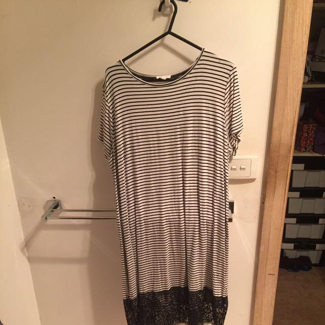 Lace Bottom tshirt dress