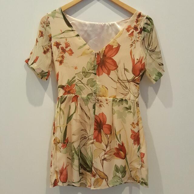 Le Bijou Floral Short Jumpsuit