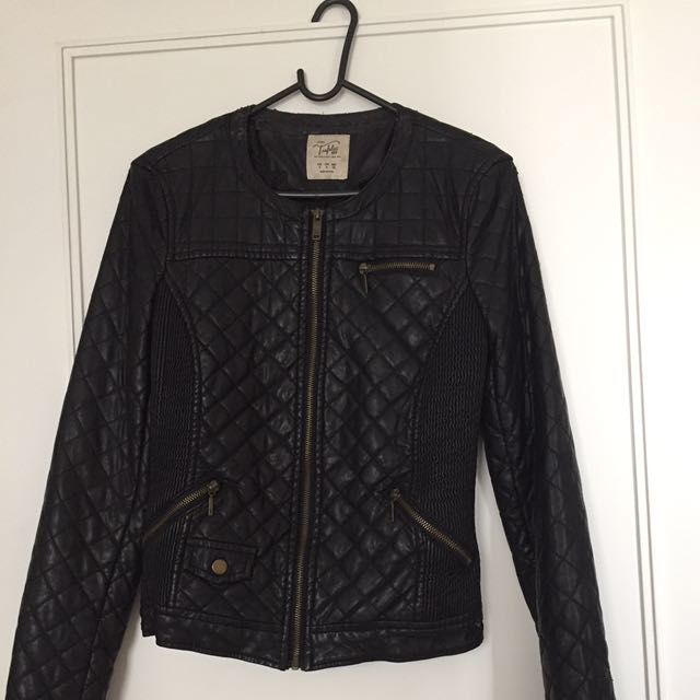 ZARA Leather Jacket (jaket kulit)