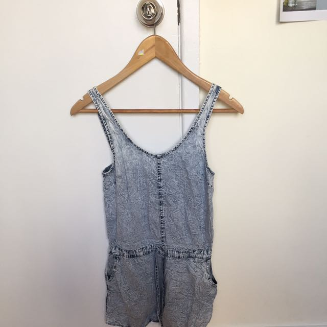 Light Washed Casual Playsuit