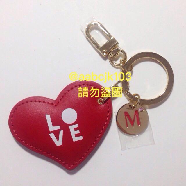 全新LOVE心形吊飾鑰匙圈