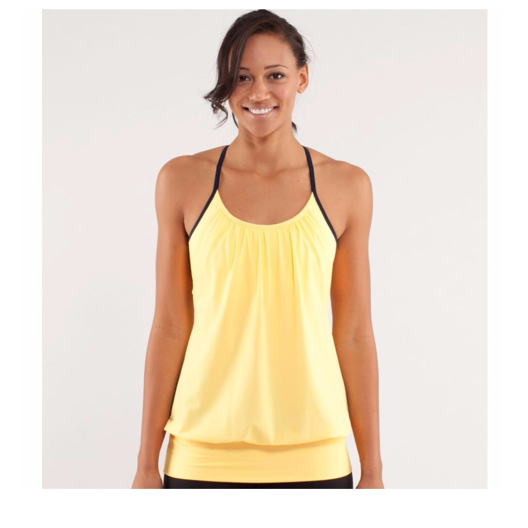 a35003af43 Lululemon Athletica No Limits Tank, Sports, Sports Apparel on Carousell