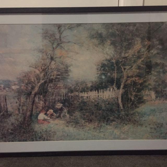 McCubbin Winter's Morning large framed print