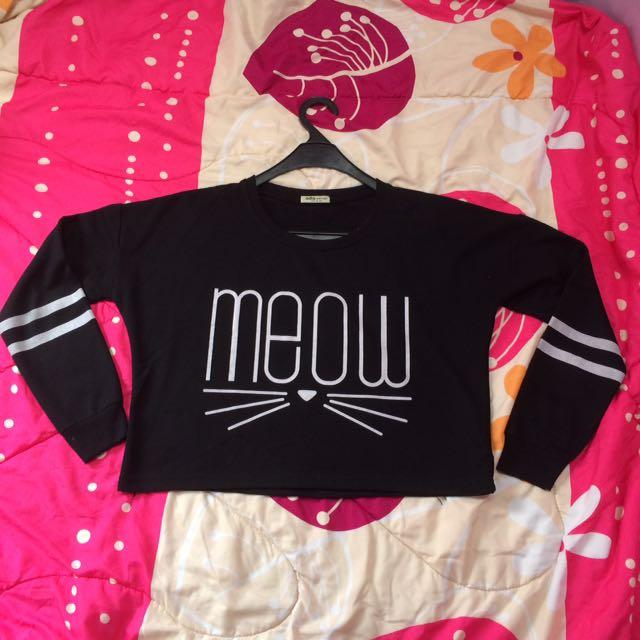 Meow Crop tee By Ada Shop