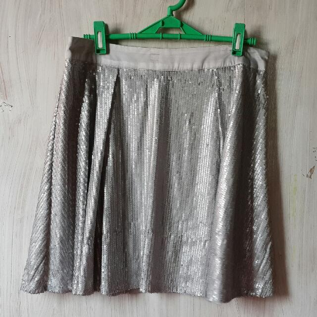 REPRICED! F21 Metallic Sequined Skirt