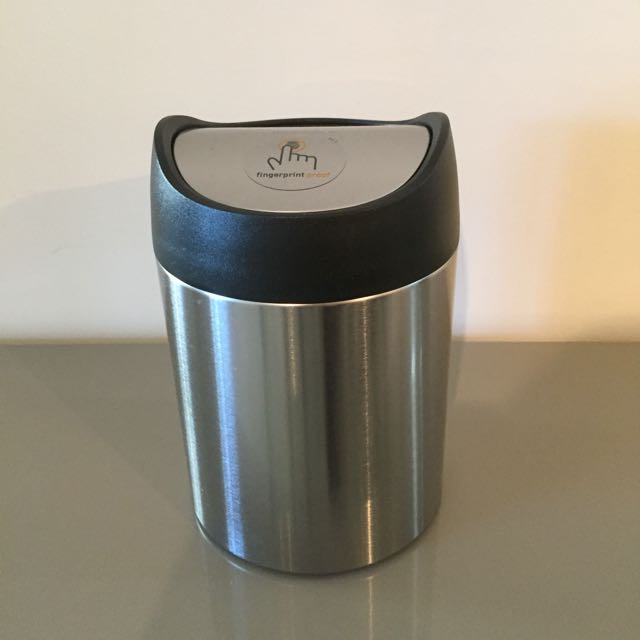 Mini Counter Trash Can - Stainless Steel