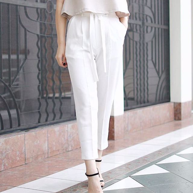 [NEW] Eclaircollection - White Peg Trouser - All Size