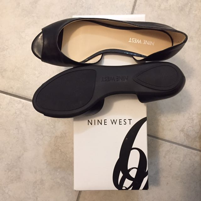 Nine West Black Peep Toe Shoes