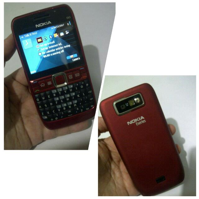 Nokia e63 with charger