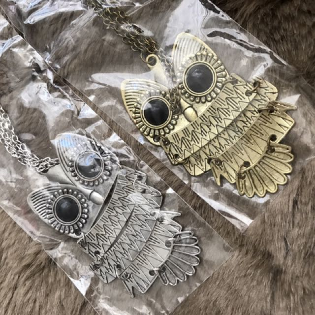 Owl Long chain necklace