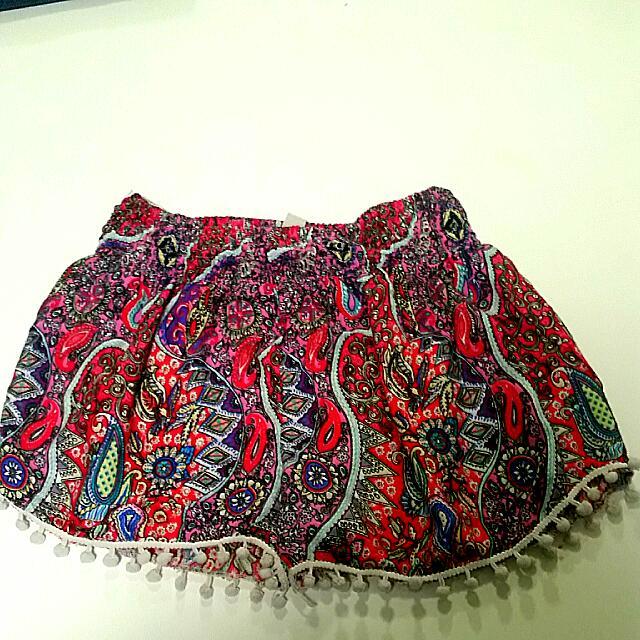 Paisley Fabric Shorts