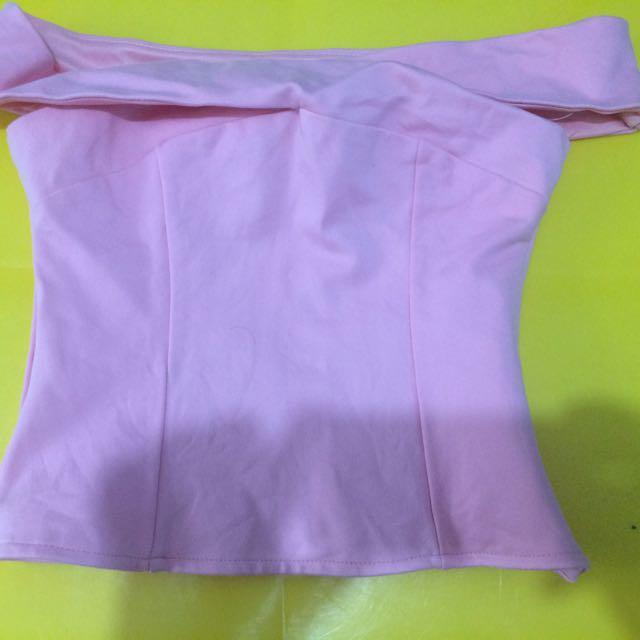 Pink Manila Off Shoulder Top