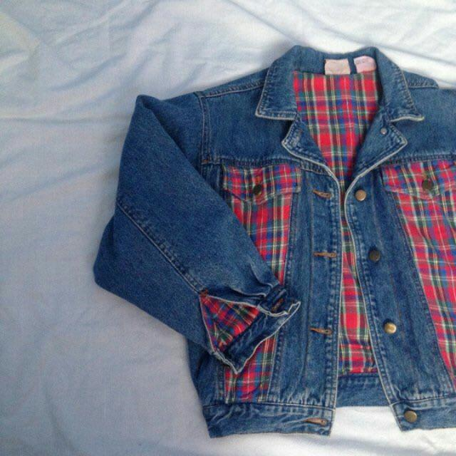 Plaid & Jean Jacket