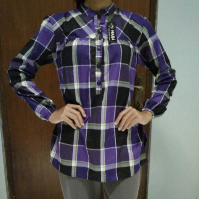 Plaid Purple Shirt